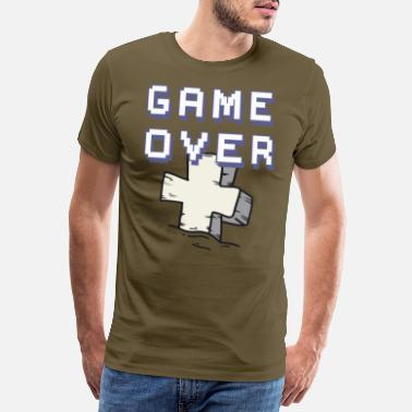 Multiplayer game over retro - Männer Premium T-Shirt