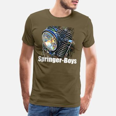 Wild Guy Springer Boys white writing - Men's Premium T-Shirt