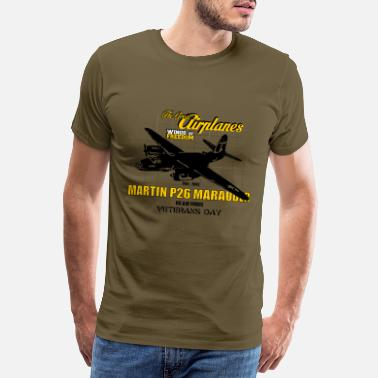 Army The Great Airplanes P-26 Marauder - T-shirt premium Homme