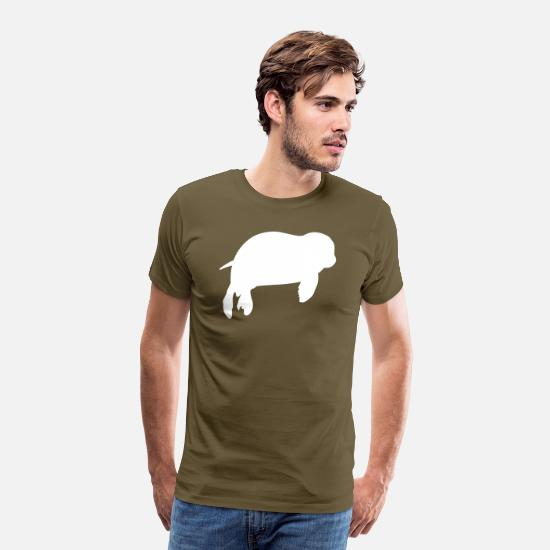 Gift Idea T-Shirts - seal - Men's Premium T-Shirt khaki