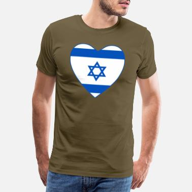 International Israel Flag Heart 1440px - Men's Premium T-Shirt