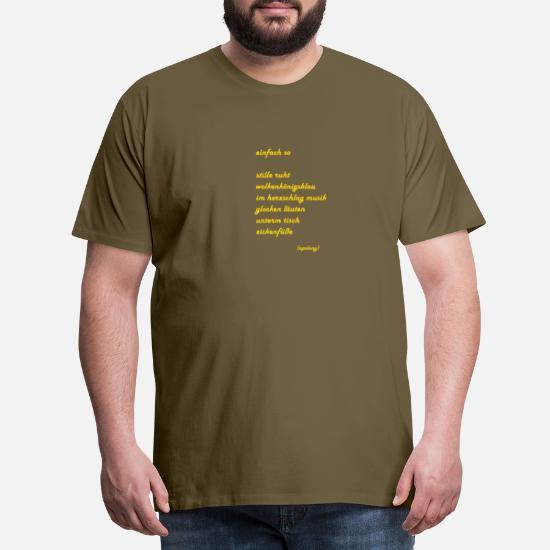 Gedicht Einfach So Lyrik Auf T Shirt Literatur Männer