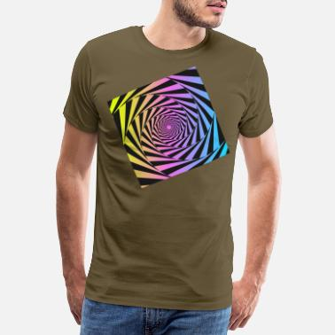 Perception illusion LSD optical art rainbow graphic skater - Men's Premium T-Shirt