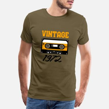 Audio Cassette Vintage 1972 Year of construction 1972 Year of birth 1972 - Men's Premium T-Shirt