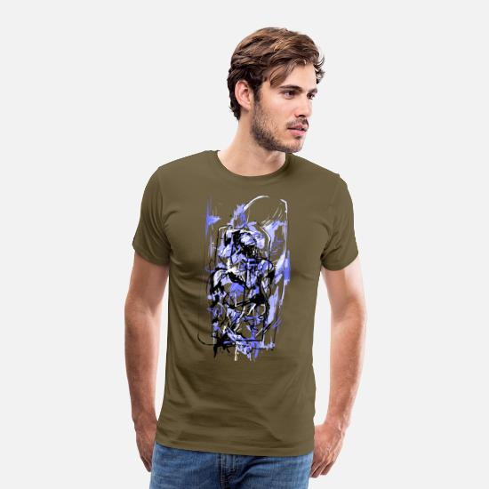 Martial Arts T-Shirts - Abstract warrior - Men's Premium T-Shirt khaki