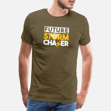 Twister Future Storm Chaser - Tornado Design - Men's Premium T-Shirt