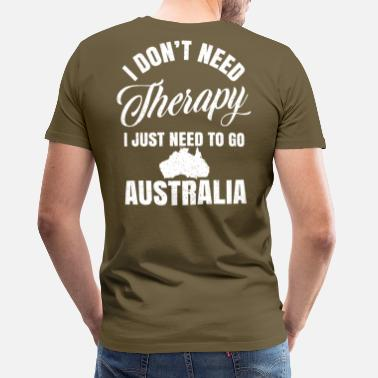 Kangaroo Australië-therapie - Down Under - Mannen premium T-shirt