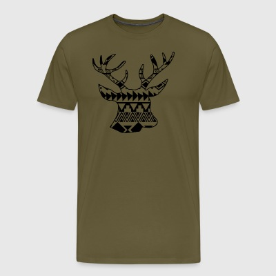 Native Deer black - Men's Premium T-Shirt