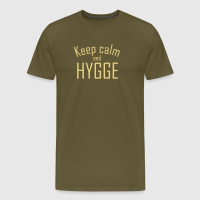 Hygge - Hold ro - Premium T-skjorte for menn