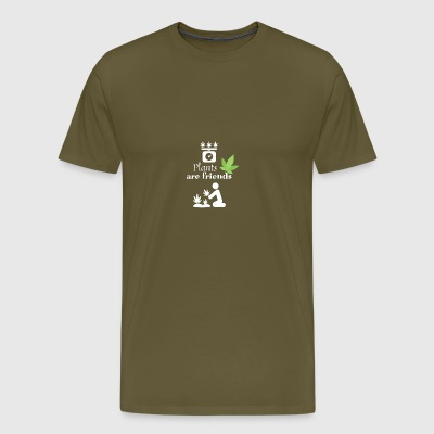 Plants and people the perfect match - Männer Premium T-Shirt