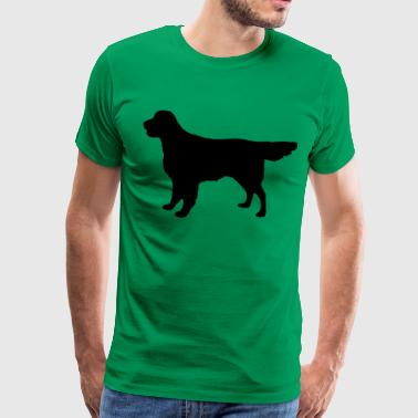 Flatcoat Retriever Dog - Camiseta premium hombre