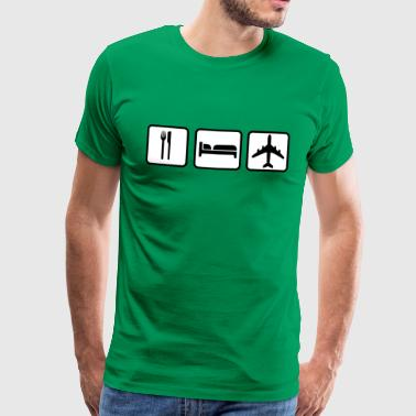 Eat Sleep Fly - Männer Premium T-Shirt
