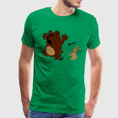 bear & bunny - colored - Men's Premium T-Shirt