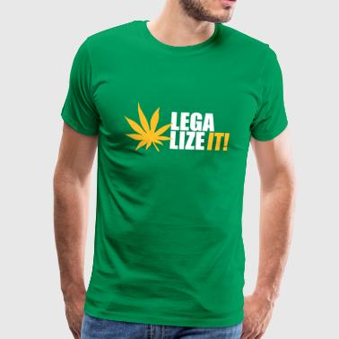 Marihuana Legalize it Cannabis Kiffen Shit - Männer Premium T-Shirt