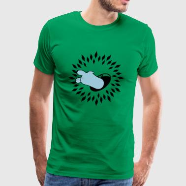 Flucht-Loch / escaped into the rabbit hole (2c) - Camiseta premium hombre