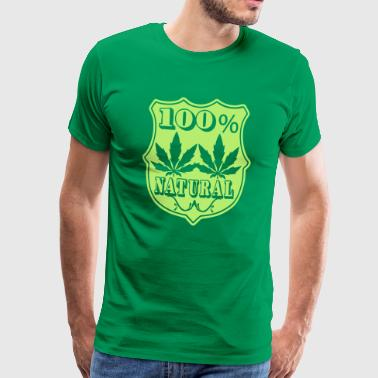 100% natural - Premium-T-shirt herr