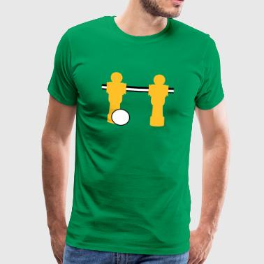 table football two players - Men's Premium T-Shirt