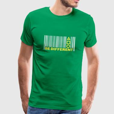 Be Different - Barcode - Symbolen - Bar code - Mannen Premium T-shirt
