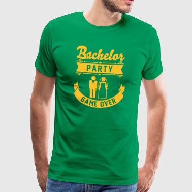 Bachelor Party Game Over - Men's Premium T-Shirt