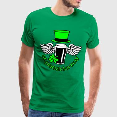 St Patricks Day st_patricks_beer - Herre premium T-shirt
