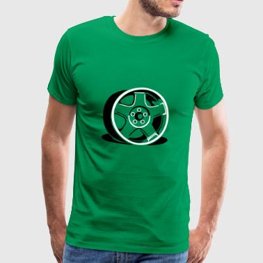 retro wheel - Männer Premium T-Shirt