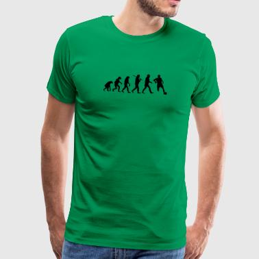 evolution of football - Men's Premium T-Shirt