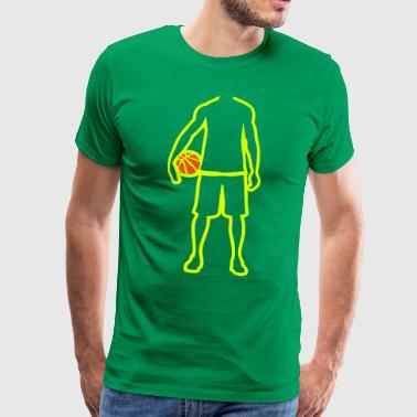 joueur basketball player trace dessin1 - T-shirt Premium Homme