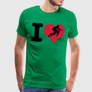 i love downhill - Men's Premium T-Shirt