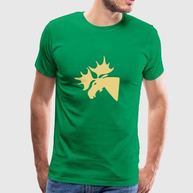 Elk Head Tshirt - Men's Premium T-Shirt