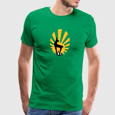 Gamssonne chamois with sun  - Men's Premium T-Shirt