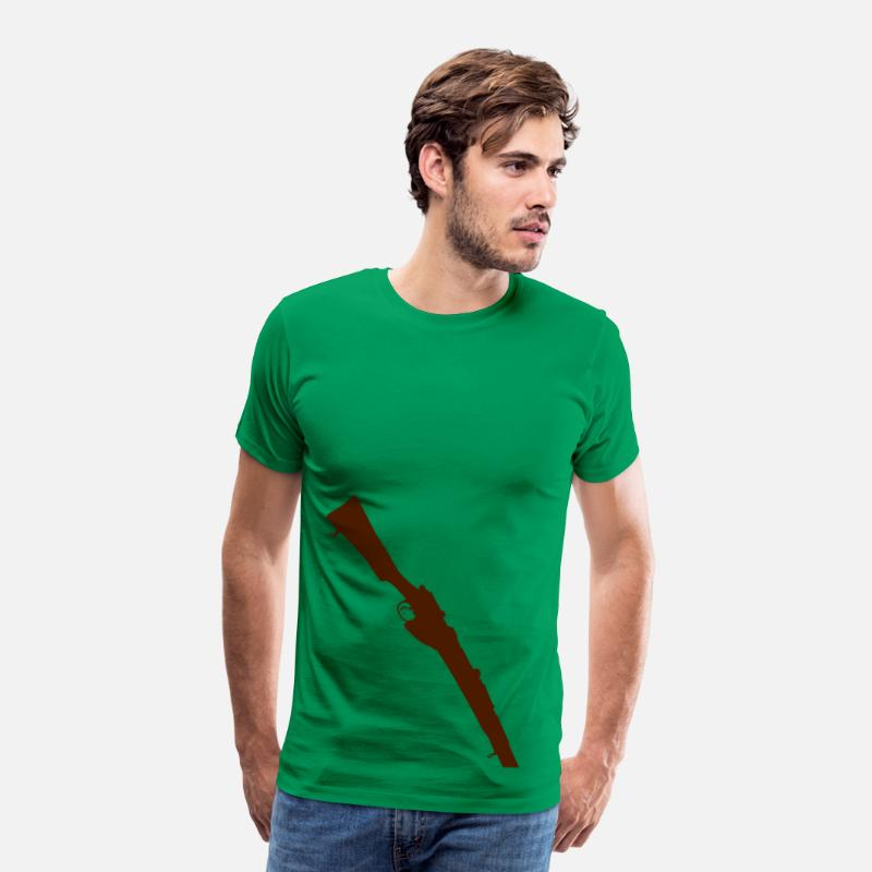 Arm T-Shirts - Lee Enfield Rifle Mk III - Men's Premium T-Shirt kelly green