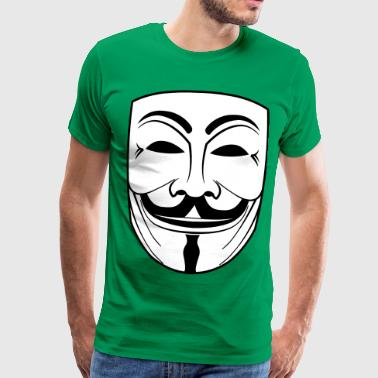 guy fawkes mask - Herre premium T-shirt