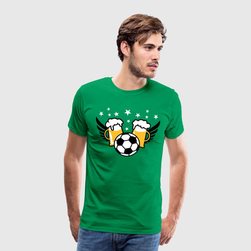 Fussball-Party 2 Mass Bier 01 3c - Männer Premium T-Shirt