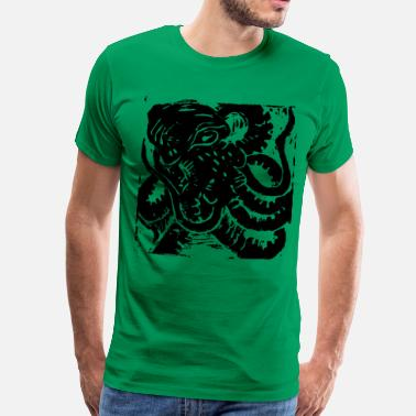 Lino Cut Museum Collection Octopus - Men's Premium T-Shirt