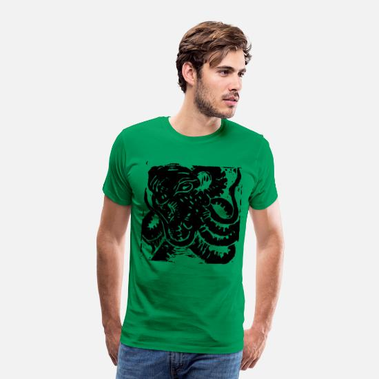 Octopus T-Shirts - Museum Collection Octopus - Men's Premium T-Shirt kelly green