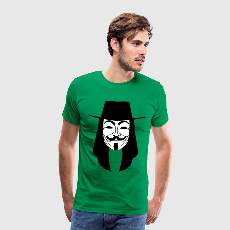 GUY FAWKES MASKE Anonymous ACTA Vendetta occupy - Männer Premium T-Shirt