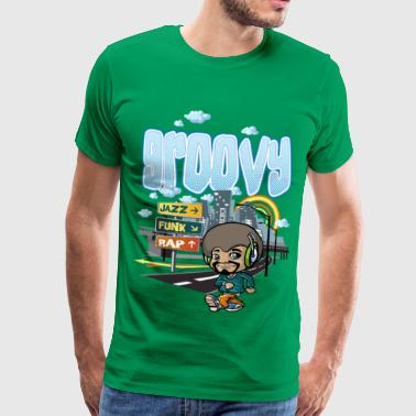 Groovy Funk Groovy city - Men's Premium T-Shirt