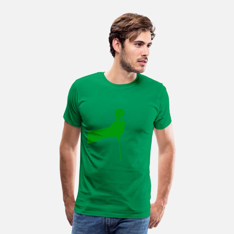 Show T-Shirts - microphone (green) - Men's Premium T-Shirt kelly green