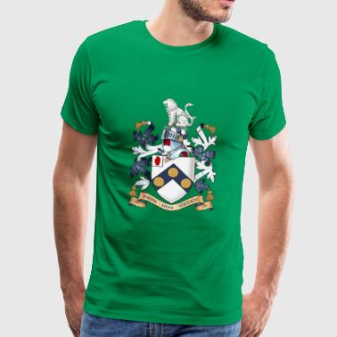 "James Bonds coat-of-arms ""The world is not enough - Men's Premium T-Shirt"