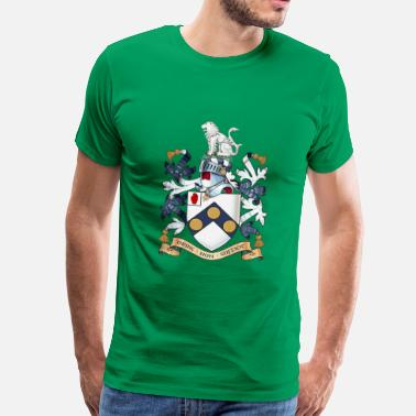 "Daniel James James Bonds coat-of-arms ""The world is not enough - Men's Premium T-Shirt"