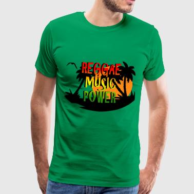 reggae music power - Camiseta premium hombre