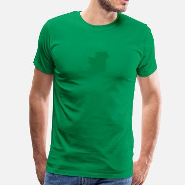 Irish Mod 1 color - Ireland irish Shamrock Saint Sankt Patricks Day Map Irland Irisch Kleeblatt - Men's Premium T-Shirt