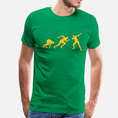 Wereldrecord Evolutie Bolt  - Mannen Premium T-shirt