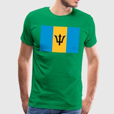 barbados flag - Premium T-skjorte for menn