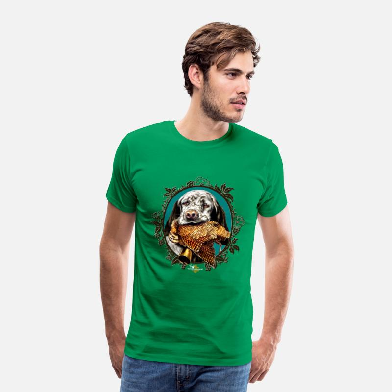 Chasseur T-shirts - setter_and_woodcock - T-shirt premium Homme vert