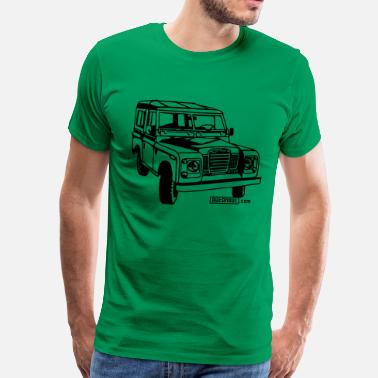 Defender Foil print LR Series illustration - Men's Premium T-Shirt