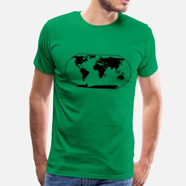 Map World Map - Men's Premium T-Shirt