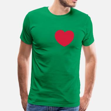 Erotic Children heart, friend, friend, romantically, love, erotism, sex, hearts, in love, wedding, pair, marriage, LOVE, affair, children, child, parents, father, mother, mother day, marry faithful  - Men's Premium T-Shirt