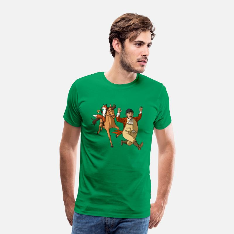 Hunting T-Shirts - Uneatable in Pursuit of Unspeakable - Men's Premium T-Shirt kelly green