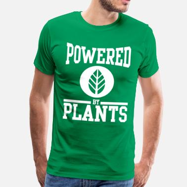 Plants Powered by plants - Herre premium T-shirt